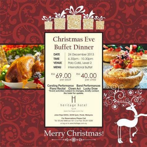 CHRISTMAS EVE BUFFET DINNER PROMOTION AT HERITAGE HOTEL