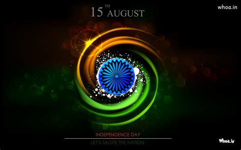 15Th August Happy Independence Day With Salute The Nation