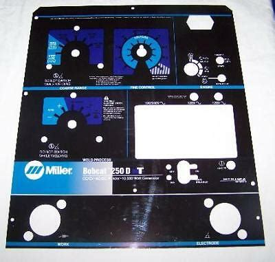 Miller Bobcat 250 Welder   Owner's Guide to Business and