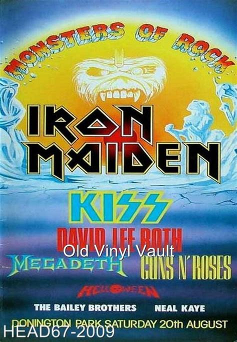 Iron Maiden-Monsters Of Rock Donington Park UK August 20th