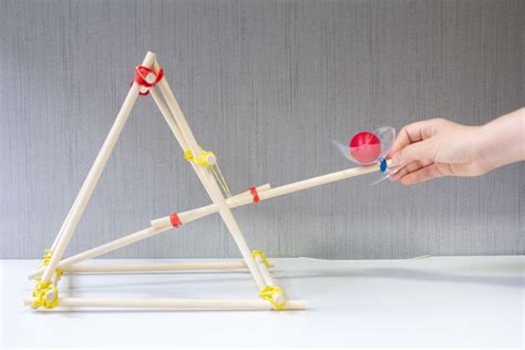 How to build a tabletop catapult   Catapult, Diy catapult